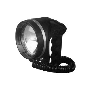 Watertight portable Searchlight 12V 50W halogen with 5 mtr cable IP68