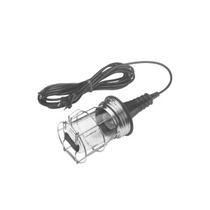 Rubber Portable handlamp E27, complete with 15 mtr cable and plug