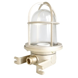 Well glass fitting brass 100W German-type E27 O- side-mounting