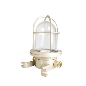 Well glass fitting brass 100W German-type E27 -O- side-mounting